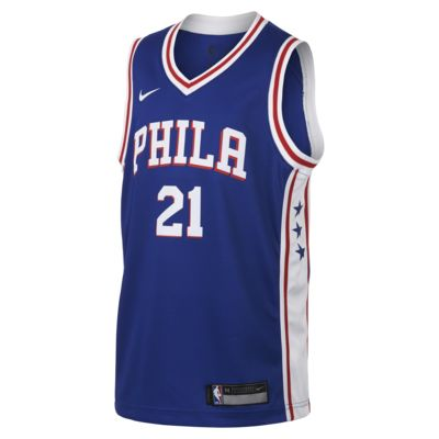 Joel Embiid Philadelphia 76ers Nike Icon Edition Swingman Big Kids' NBA Jersey