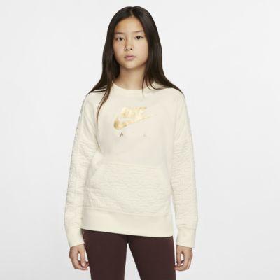 Κοριτσίστικη μακρυμάνικη φλις μπλούζα Nike Air
