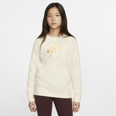Nike Air Girls' Long-Sleeve Fleece Top