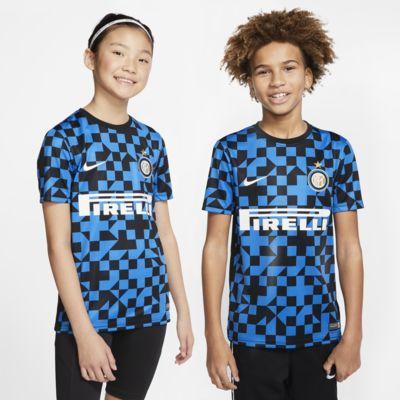 Inter Milan kortermet fotballoverdel til store barn