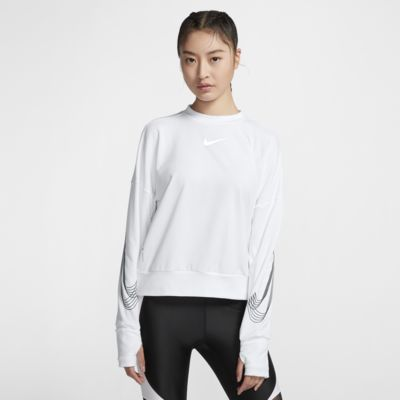 Nike Therma Element SHM 女子跑步圆领上衣