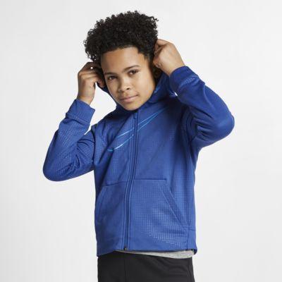 Nike Dri-FIT Big Kids' (Boys') Full-Zip Training Hoodie