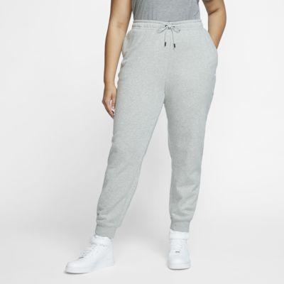 Damskie spodnie z dzianiny Nike Sportswear Essential (duże rozmiary)