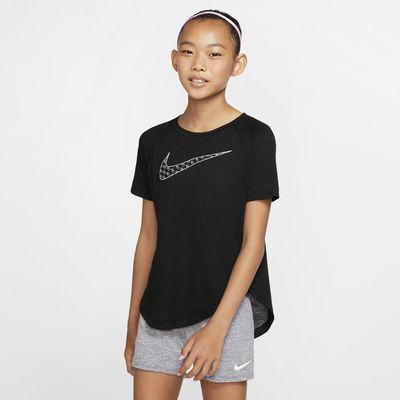 Nike Dri-FIT Trophy 大童(女孩)短袖印花训练上衣