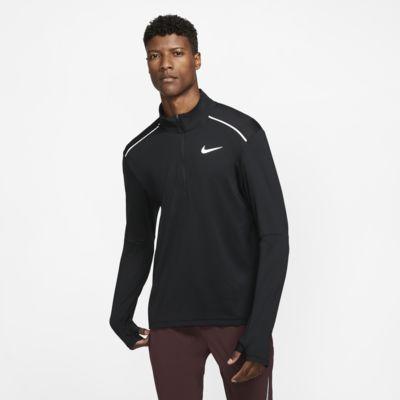 Nike 3.0-løbetrøje med rund hals og halv lynlås til mænd