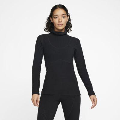 Nike Pro HyperWarm Velours-Oberteil für Damen