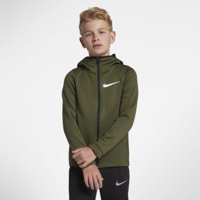 Nike Dri-FIT Therma Flex Big Kids' (Boys') Full-Zip Basketball Hoodie
