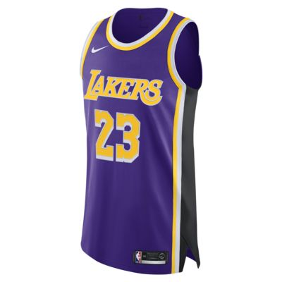 LeBron James Statement Edition Authentic (Los Angeles Lakers) Men's Nike NBA Connected Jersey