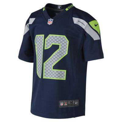 NFL Seattle Seahawks (Fan #12) Preschool Kids' Football Home Game Jersey