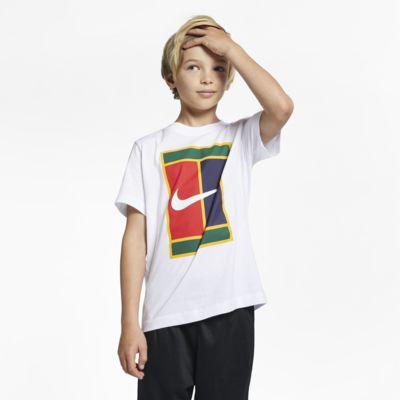 T-Shirt τένις NikeCourt για μεγάλα αγόρια