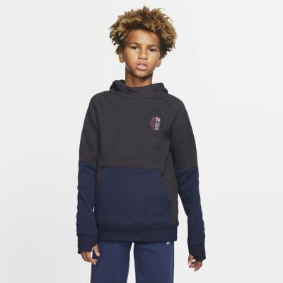 Paris Saint-Germain-pullover-hættetrøje i fleece til store børn