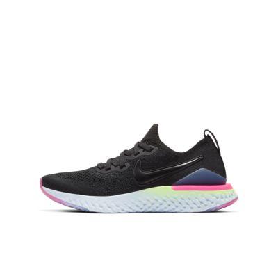 Nike Epic React Flyknit 2-løbesko til store børn