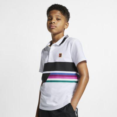 Tenisová polokošile NikeCourt Advantage pro větší děti (chlapce)
