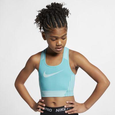 Στηθόδεσμος με ανάγλυφη εφαρμογή Nike FE/NOM για κορίτσια