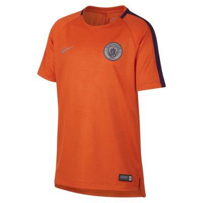Ποδοσφαιρική μπλούζα Manchester City FC Dry Squad για μεγάλα παιδιά