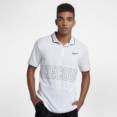 NikeCourt Dri-FIT - tennispolo med grafik til mænd