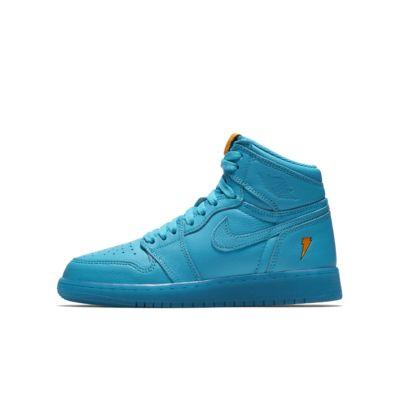 Air Jordan 1 Retro High 'Cool Blue' Older Kids' Shoe