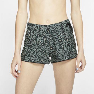 Calções de banho com estampado de leopardo Hurley Phantom Waverider para mulher