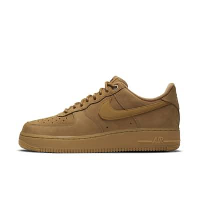 Купить Мужские кроссовки Nike Air Force 1 '07 WB, Лен/Светло-коричневая резина/Черный/Пшеничный, 23799679, 12723224