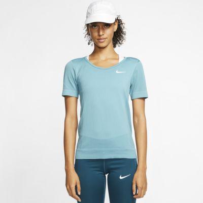 Kortærmet Nike Infinite-løbeoverdel til kvinder