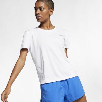 Top da running a manica corta Nike Miler - Donna