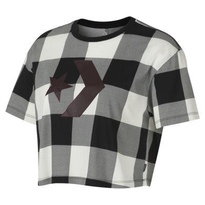 Converse Buffalo Plaid Star Chevron Easy Crop Women's T-Shirt