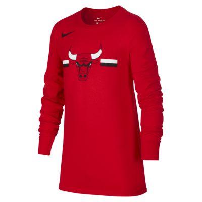 芝加哥公牛队 Nike Dri-FITNBA 大童(男孩)长袖T恤