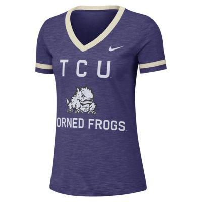Nike College Dri-FIT Fan (TCU) Women's Short-Sleeve V-Neck Top
