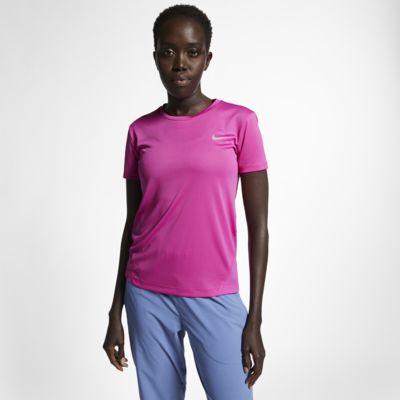 Kortärmad löpartopp Nike Miler för kvinnor
