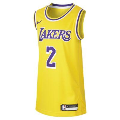 Lonzo Ball Los Angeles Lakers Nike Icon Edition Swingman-NBA-trøje til store børn