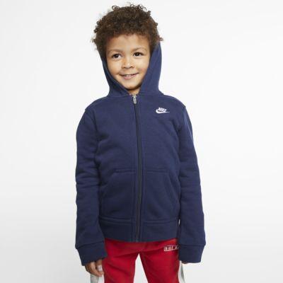 Nike Sportswear Club Fleece-hættetrøje med lynlås til småbørn