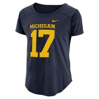 Nike College Modern Fan (Michigan) Women's Short Sleeve Top