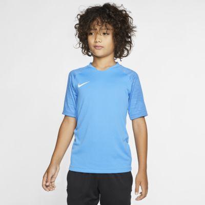 Nike Breathe Strike kortermet fotballoverdel til store barn