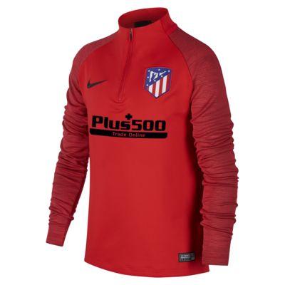 Футболка для футбольного тренинга для школьников Nike Dri-FIT Atlético de Madrid Strike