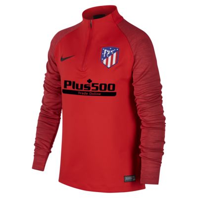 Nike Dri-FIT Atlético de Madrid Strike-fodboldtræningstrøje til store børn