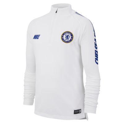 Chelsea FC Dri-FIT Squad Drill-langærmet fodboldtrøje til store børn