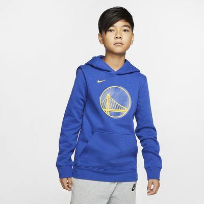 Golden State Warriors Logo Nike NBA-hoodie voor kids