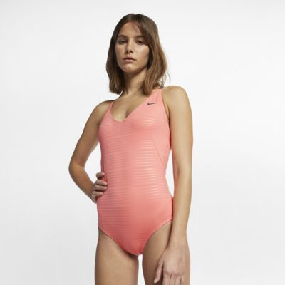 Nike Shine Stripe Crossback Women's One-Piece Swimsuit