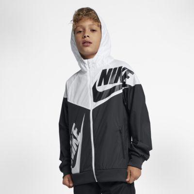 Chamarra rompeviento para niños talla grande Nike Sportswear Windrunner