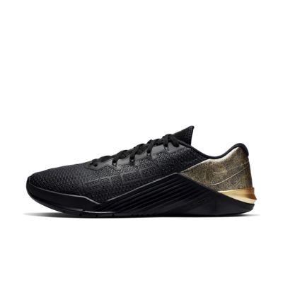 Купить Кроссовки для тренинга Nike Metcon 5 Black x Gold, Черный/Черный/Золотистый металлик, 23378302, 12647696
