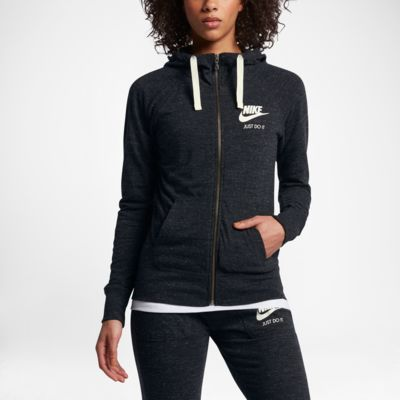 Nike Sportswear Gym Vintage hosszú cipzáras, kapucnis női pulóver