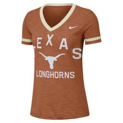 Nike College Dri-FIT Fan (Texas) Women's Short-Sleeve V-Neck Top