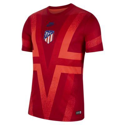 Prenda para la parte superior de fútbol de manga corta para hombre Atletico de Madrid