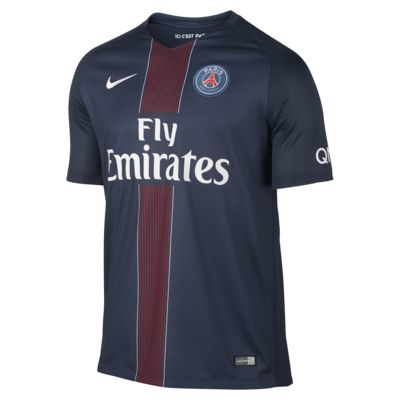 Camiseta de fútbol de local Stadium de Paris Saint-Germain 2016/17 para hombre