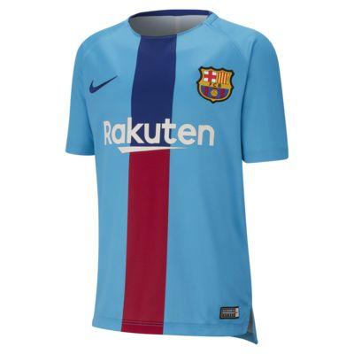 Camisola de futebol de manga curta FC Barcelona Dri-FIT Squad Júnior
