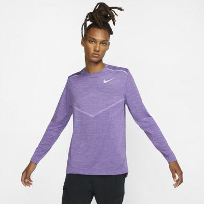 Męska koszulka z długim rękawem do biegania Nike TechKnit Ultra