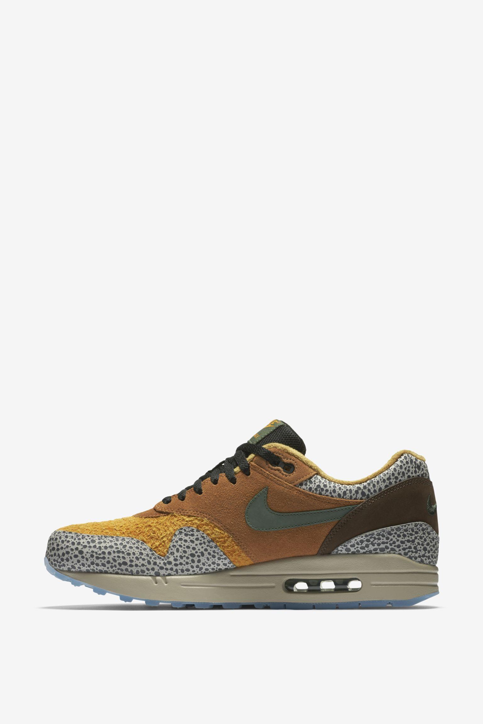 Nike Air Max 1 Premium Olive Canvas Mens Shoes Retro