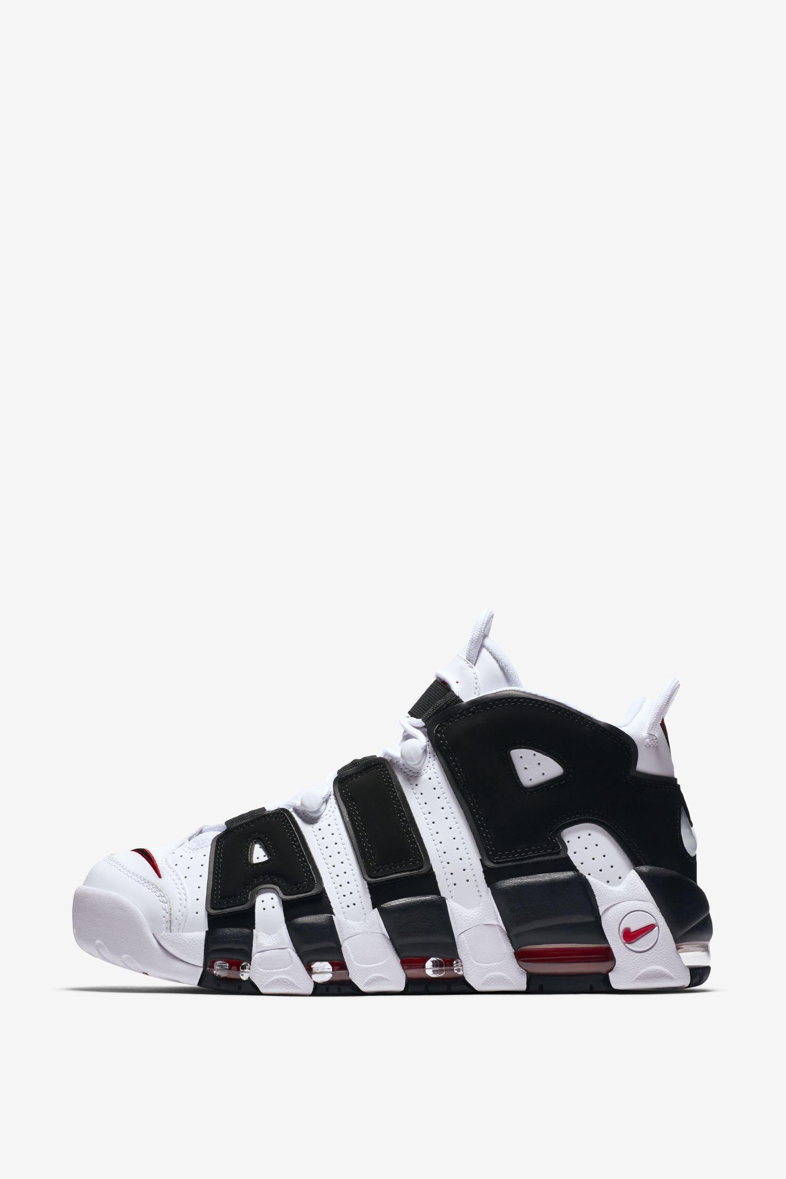 Nike Air More Uptempo 96 White &Amp University Red &Amp