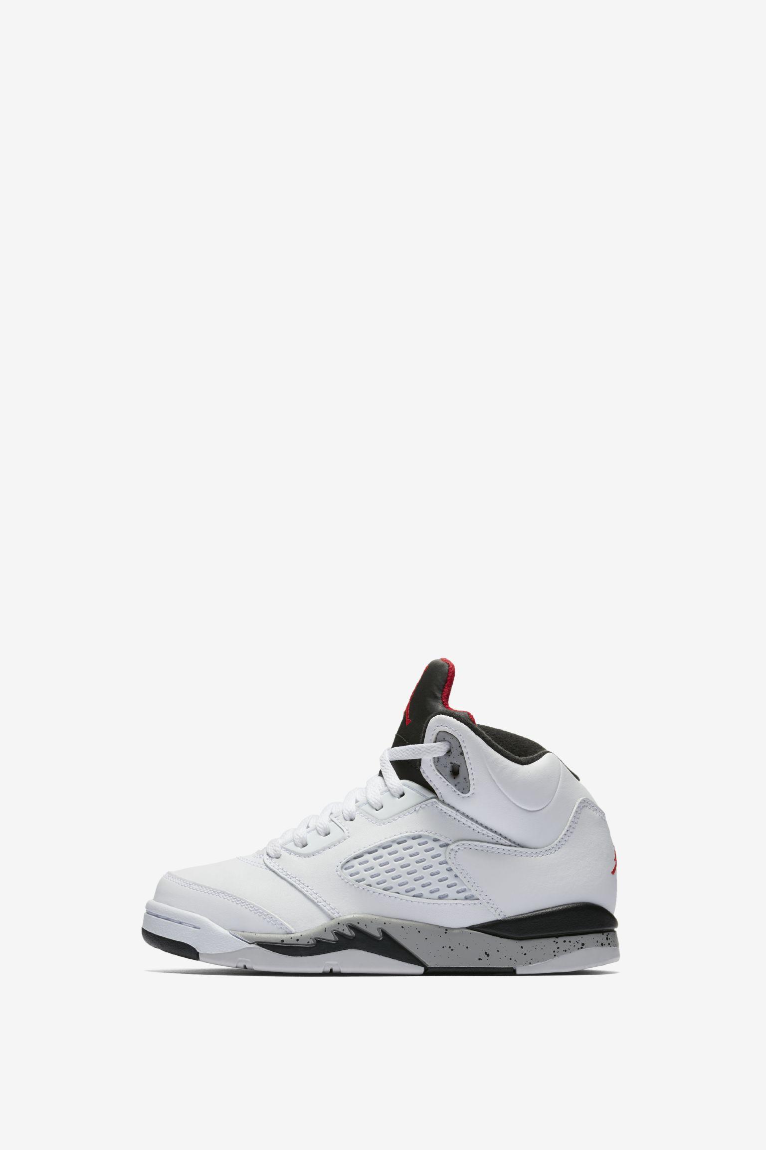 Air Jordan 5 Retro  White   Black   University Red  Release Date ... fc9f1bb7201f