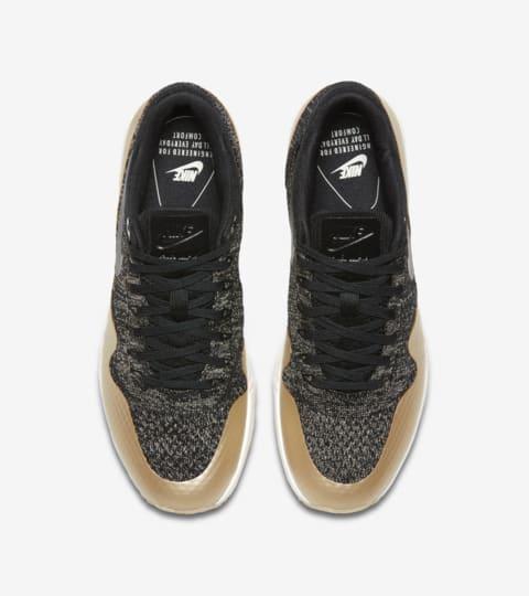 Women's Nike Air Max 1 Ultra 2.0 Flyknit Metallic 'Black